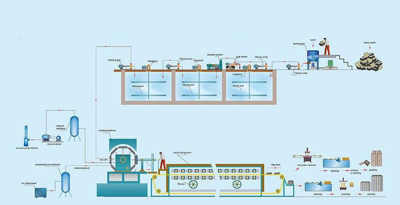 Proceso de Producción de Bandejas de Huevos