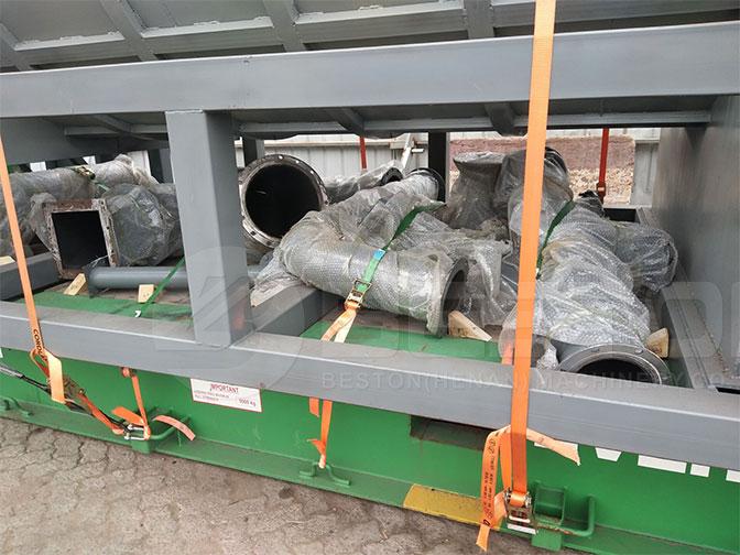 Ayudar Instalacion la Máquina para Hacer Carbón Vegetal