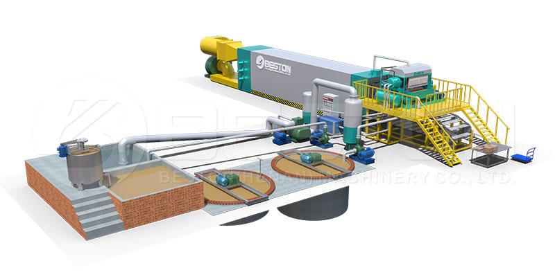Dibujo 3D de la Máquina para Hacer Bandejas-BESTONECO